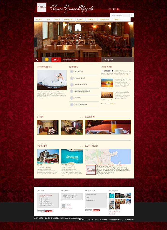 Изглед на сайта